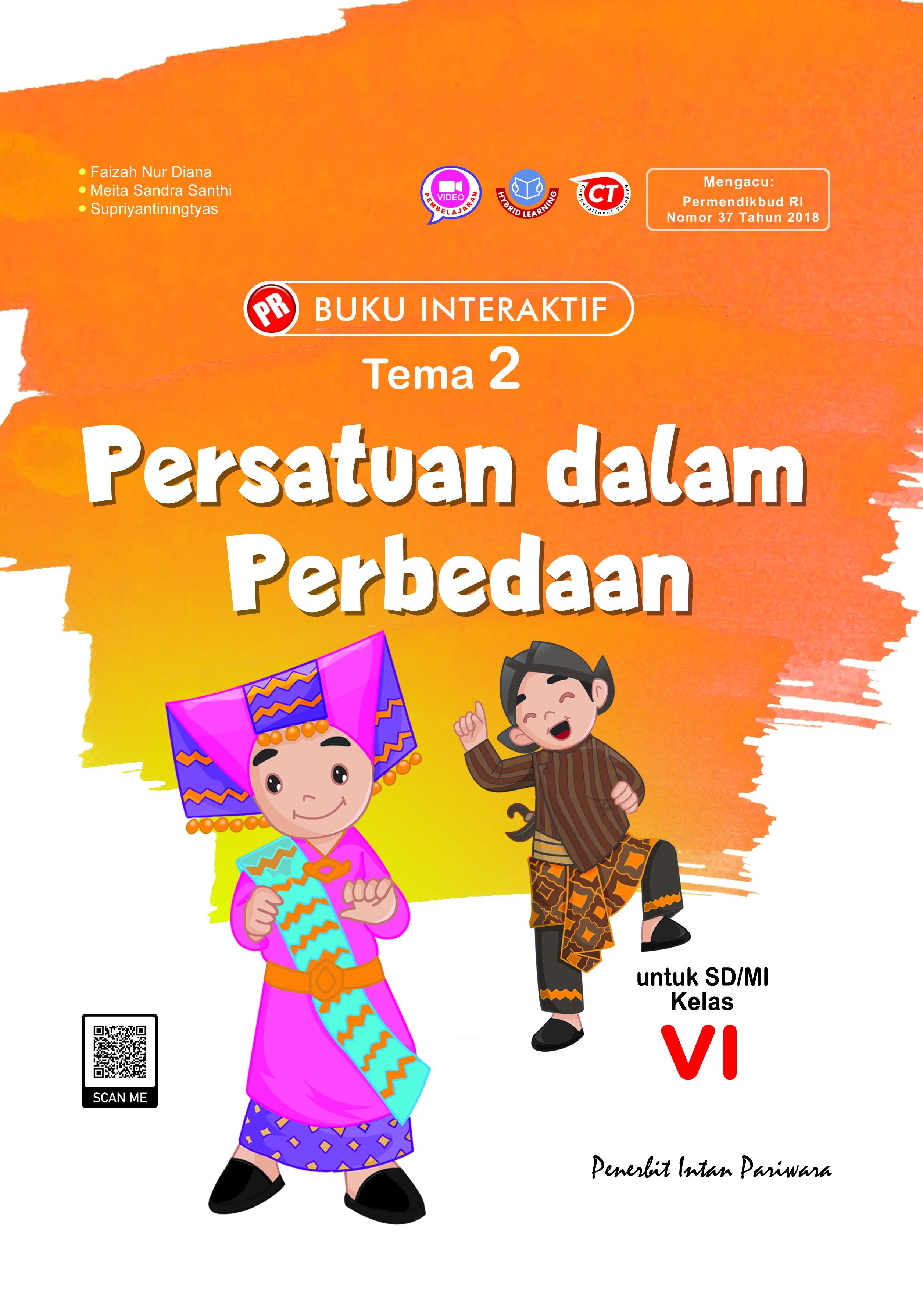 Buku Interaktif: Kelas VI Tema 2 Persatuan dalam Perbedaan