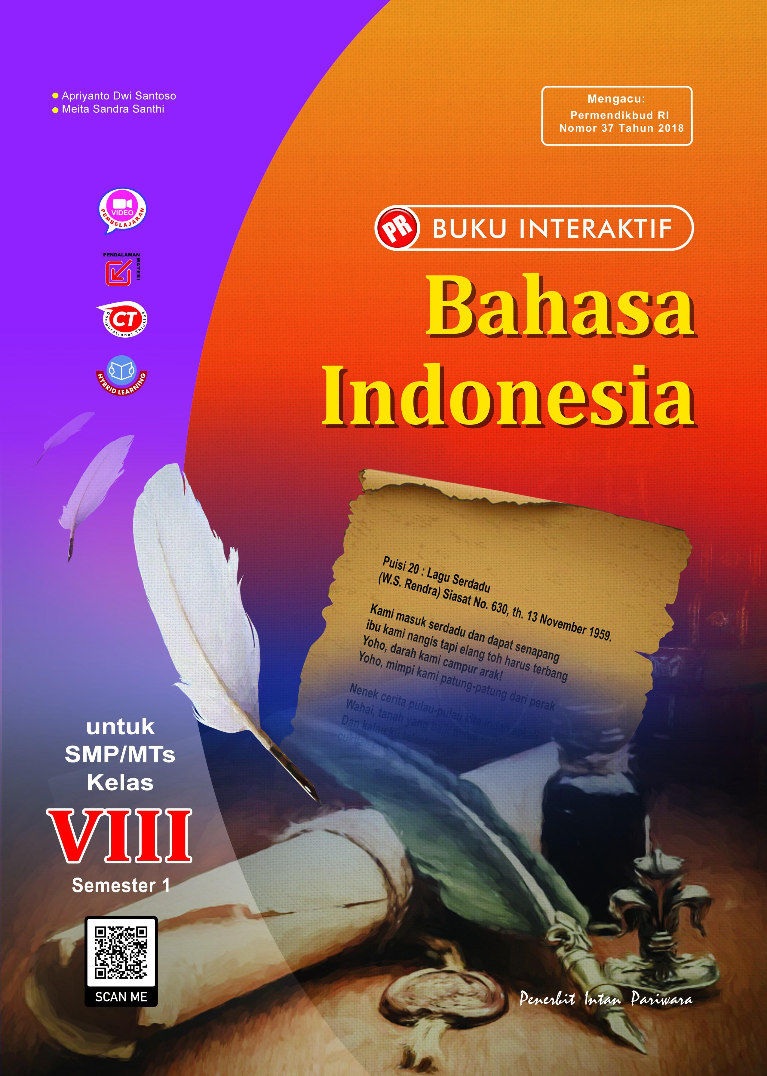 Buku Interaktif Bahasa Indonesia VIII Semester 1