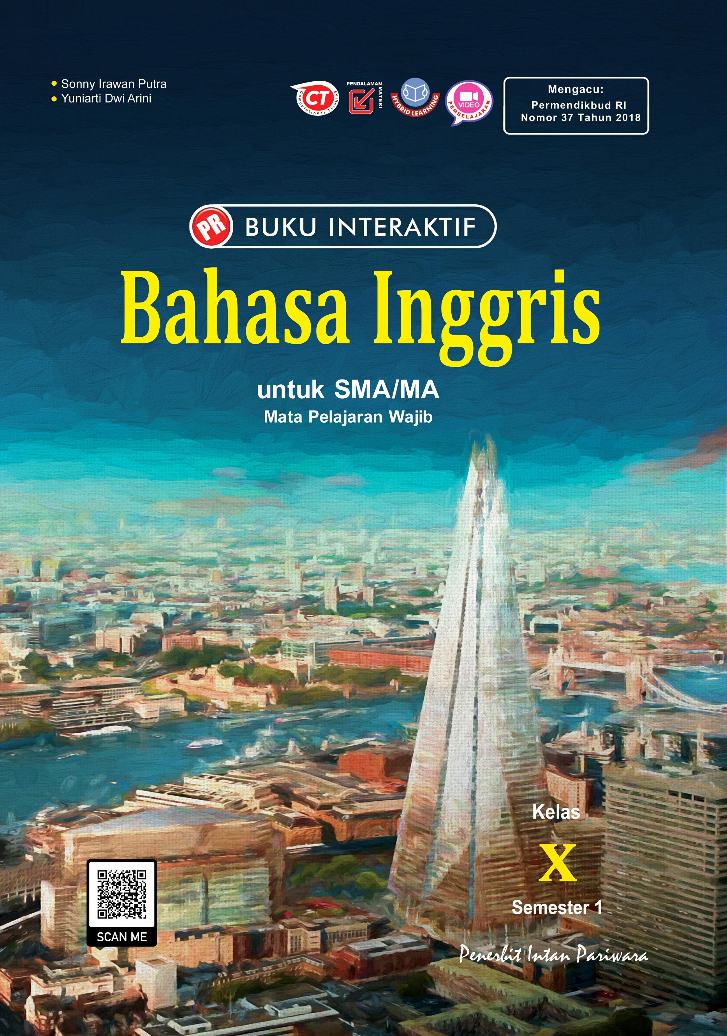 Buku Interaktif Bahasa Inggris X Semester 1