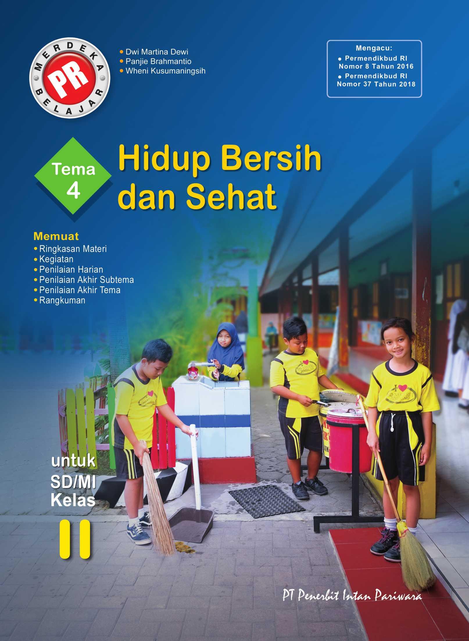 PR Kelas II Tema 4 Hidup Bersih dan Sehat Thn 2020/2021