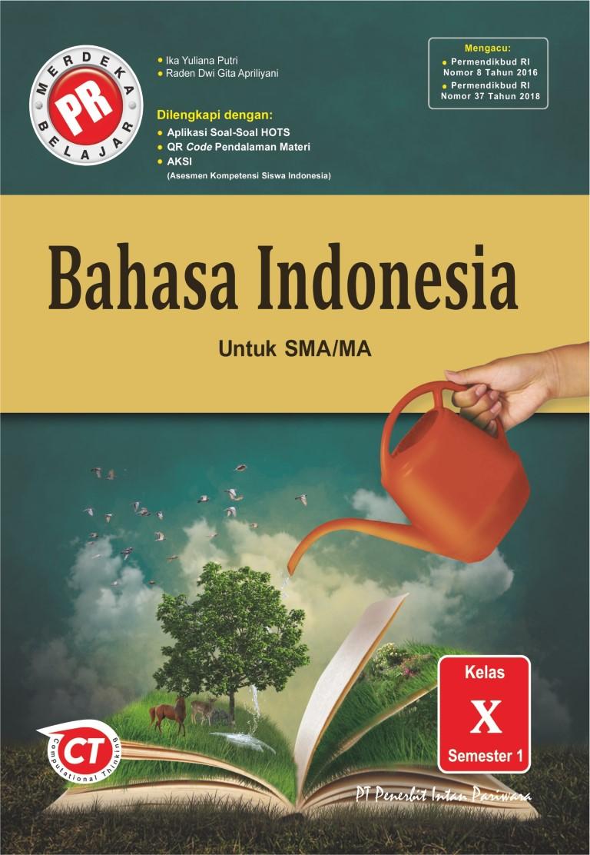 PR Bahasa Indonesia X Semester 1 Thn 2020/2021